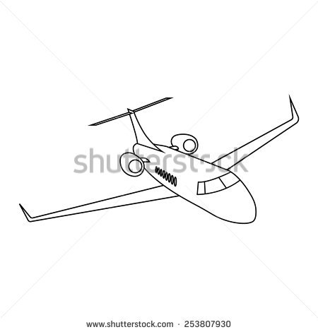 450x470 Collection Of Private Jet Drawing High Quality, Free