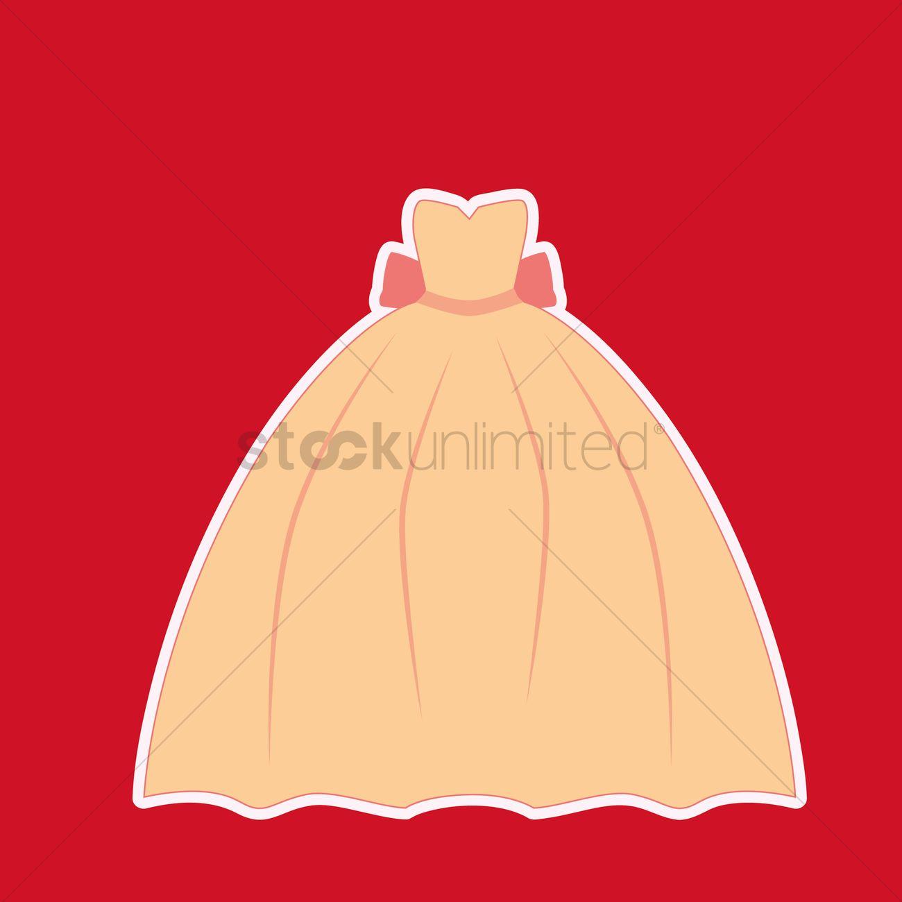 1300x1300 Free Prom Dress Vector Image