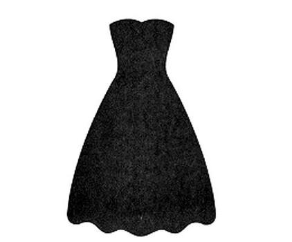 422x350 Black Dress Clipart Prom Dress 3075935