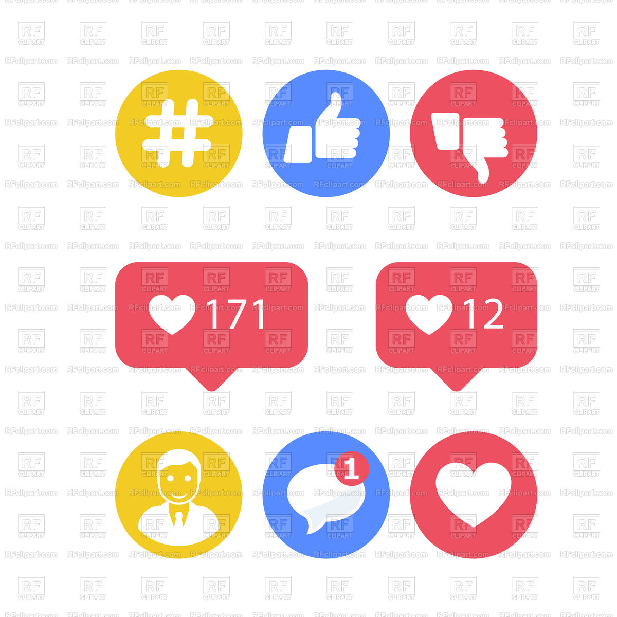1200x1200 Smm And Social Activity Icons