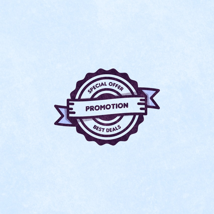 850x850 How To Create A Promotion Vector Badge In Adobe Illustrator