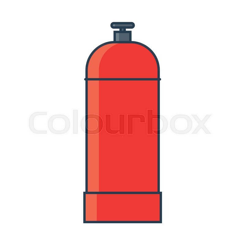 800x800 Flammable Gas Tank Icon. Propane, Butane, Methane Gas Tank. Flat