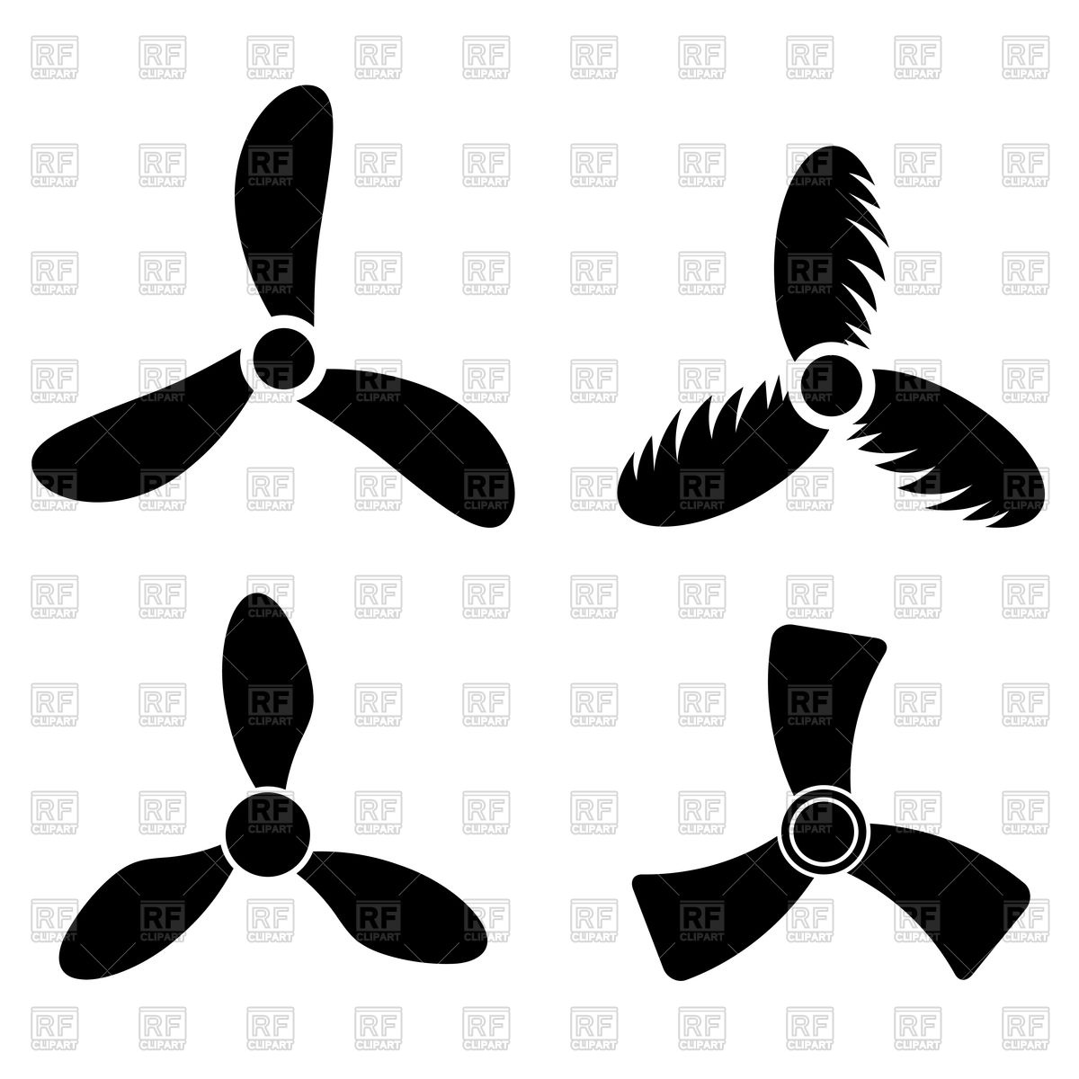 1200x1200 Set Of Propeller Icons Vector Image Vector Artwork Of Icons And
