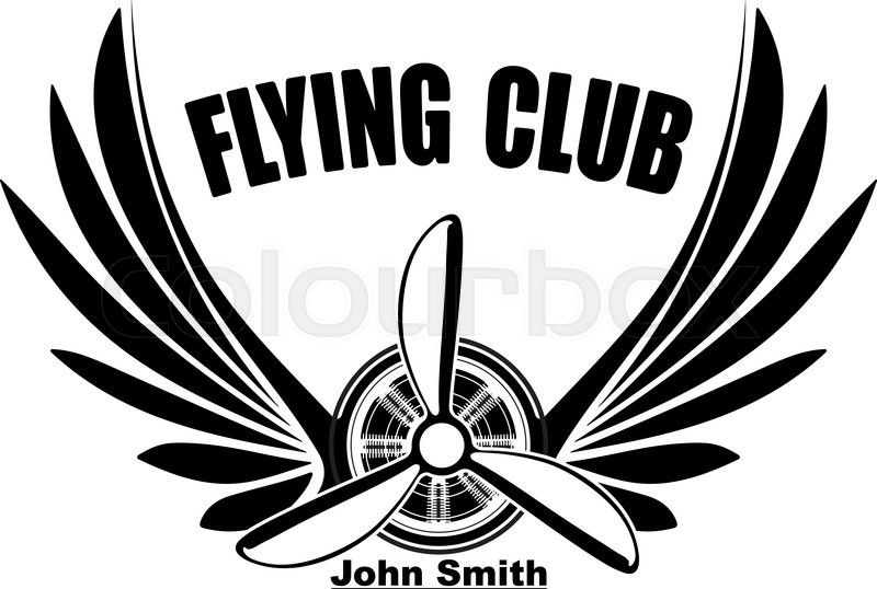 3c4e6b915f86 800x538 Flying Club John Smith Abstract Logo Design With Pair Of Wings And
