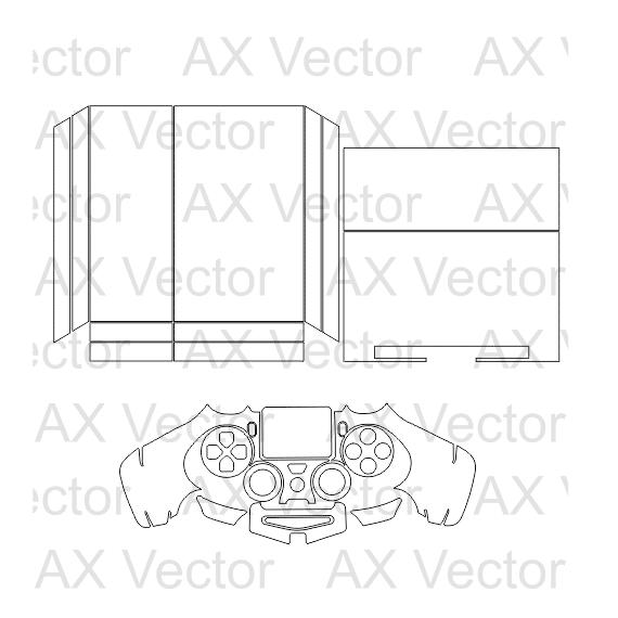 570x570 Ps4 Console Controller Vector Template