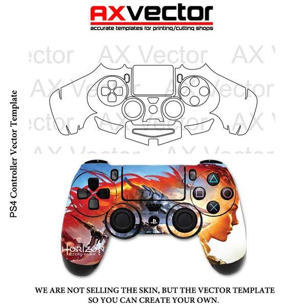 600x600 Ps4 Controller Vector Template