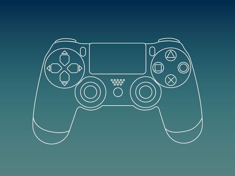 800x600 Ps4 Controller Line Work. By Erick