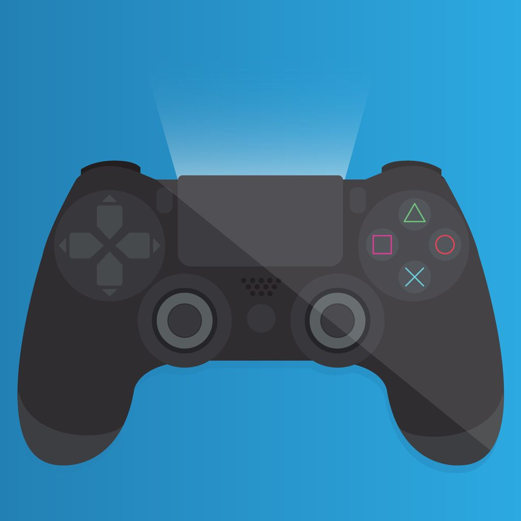 1024x1024 Ps4 Controller Vector Illustration