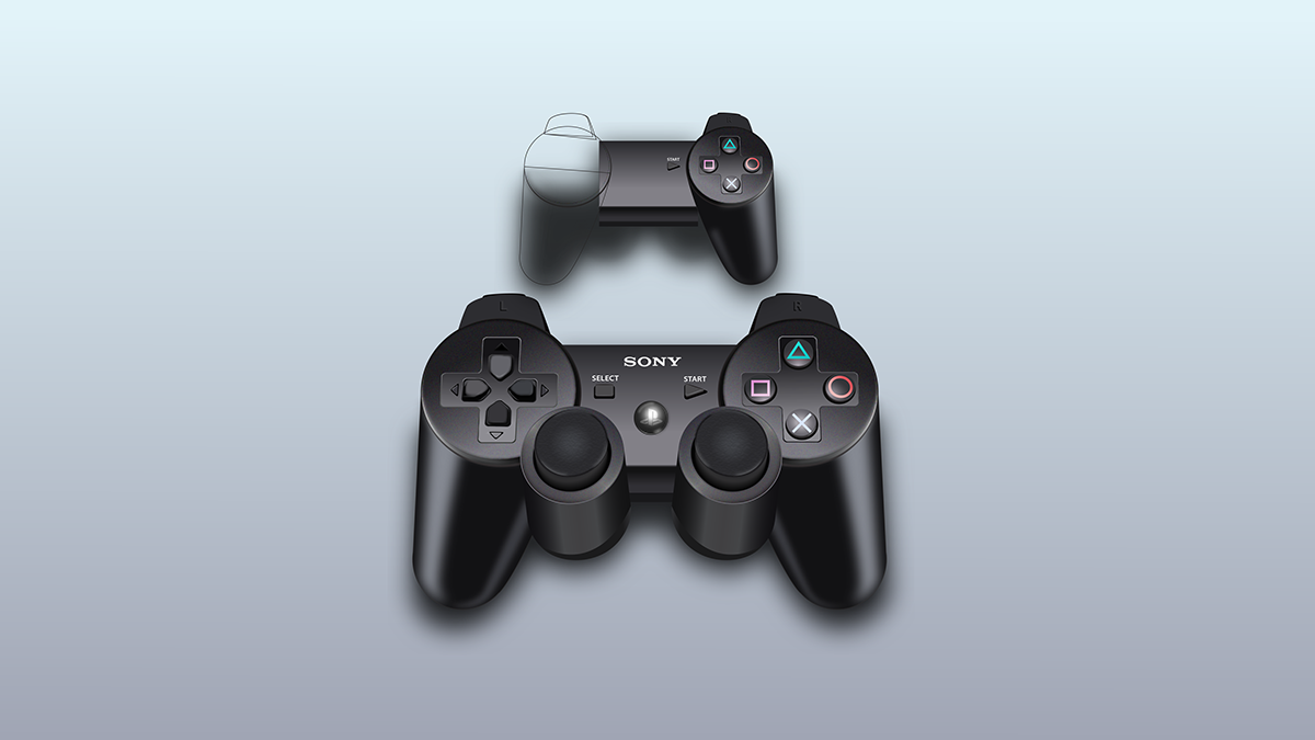 1200x675 Ps4 Controller Vector Mock Up On Behance