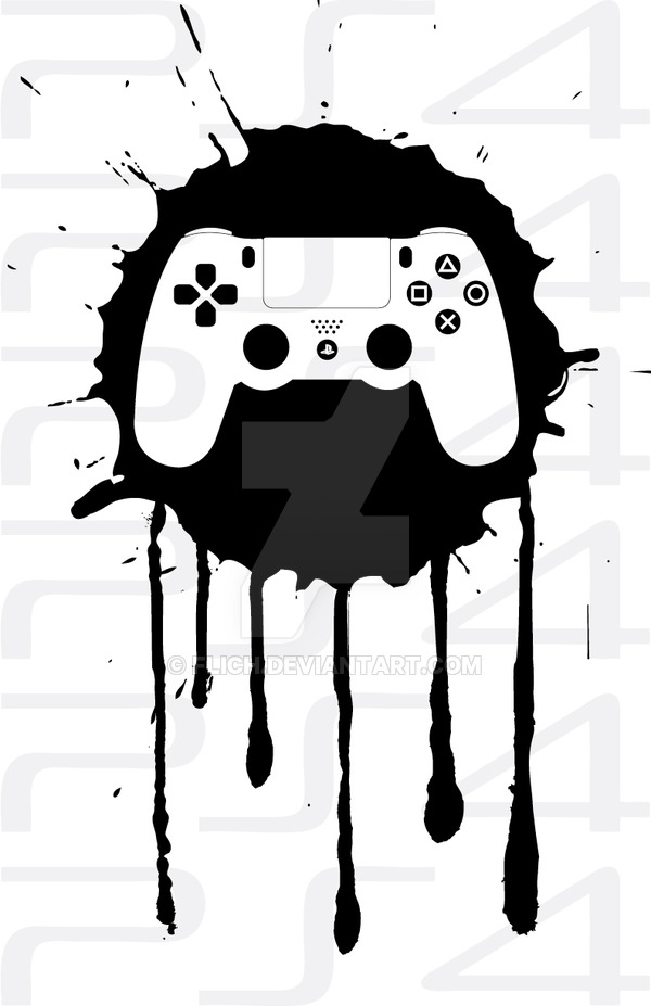 600x927 Ps4 Controller By Flich
