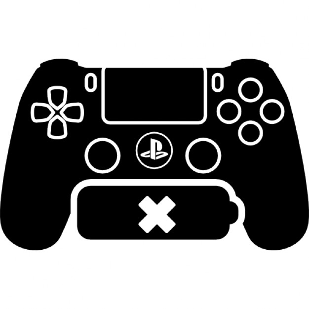 626x626 Ps4 Game Control With No Battery Icons Free Download