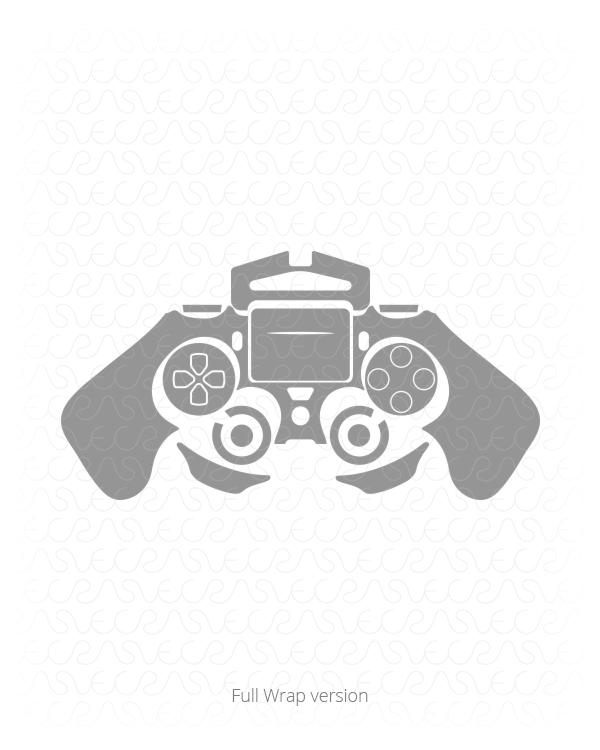 600x750 Sony Ps4 Dual Shock 4 Controller Vinyl Skin Cut File For Play