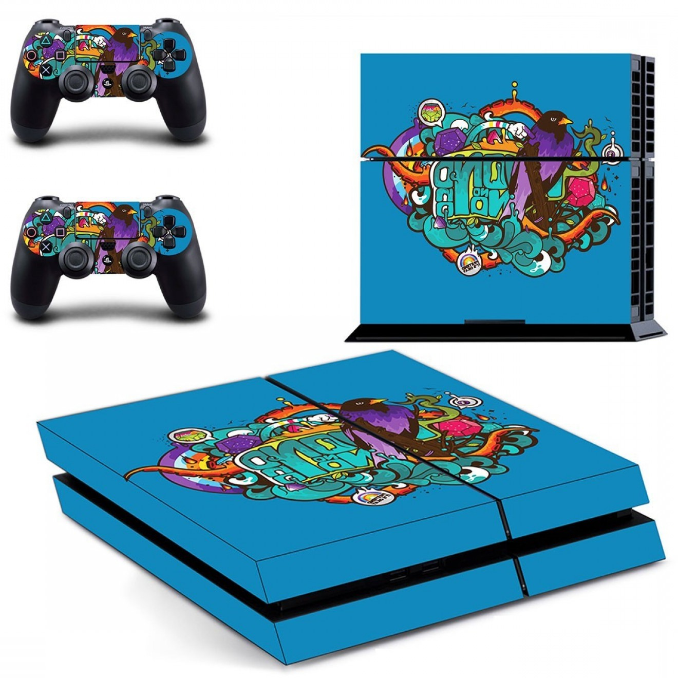 1320x1320 Vector Art Skin Decal For Ps Playstation Console And Controllers
