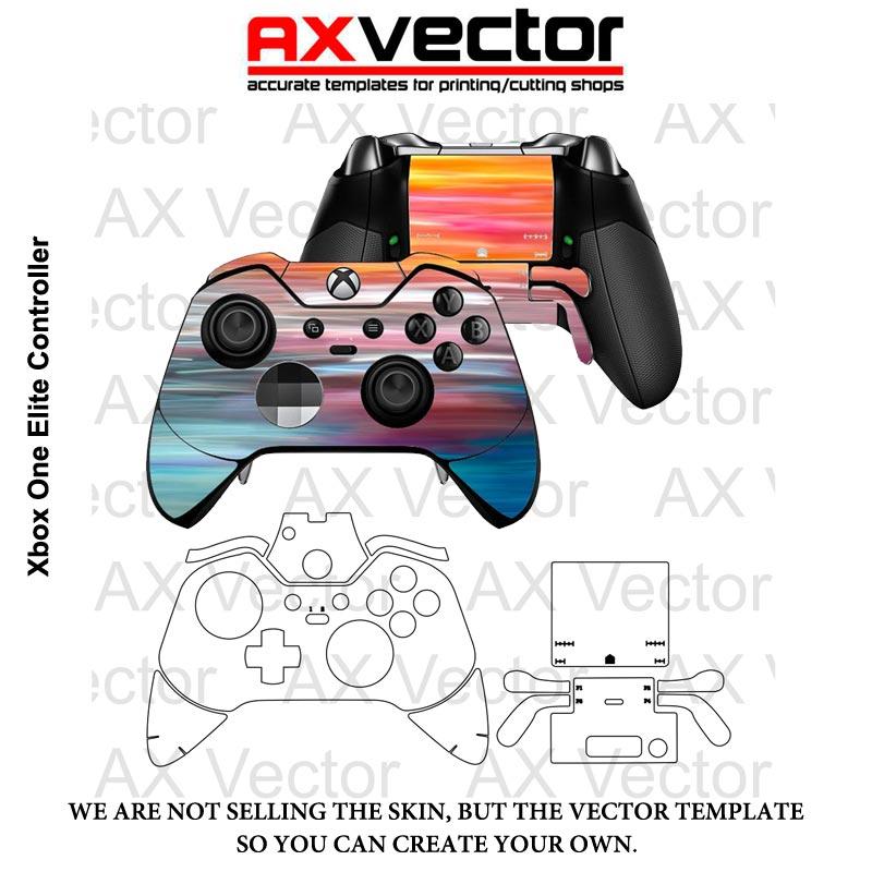 800x800 Xbox One Elite Controller Vector Template, Accurate Contour Cut