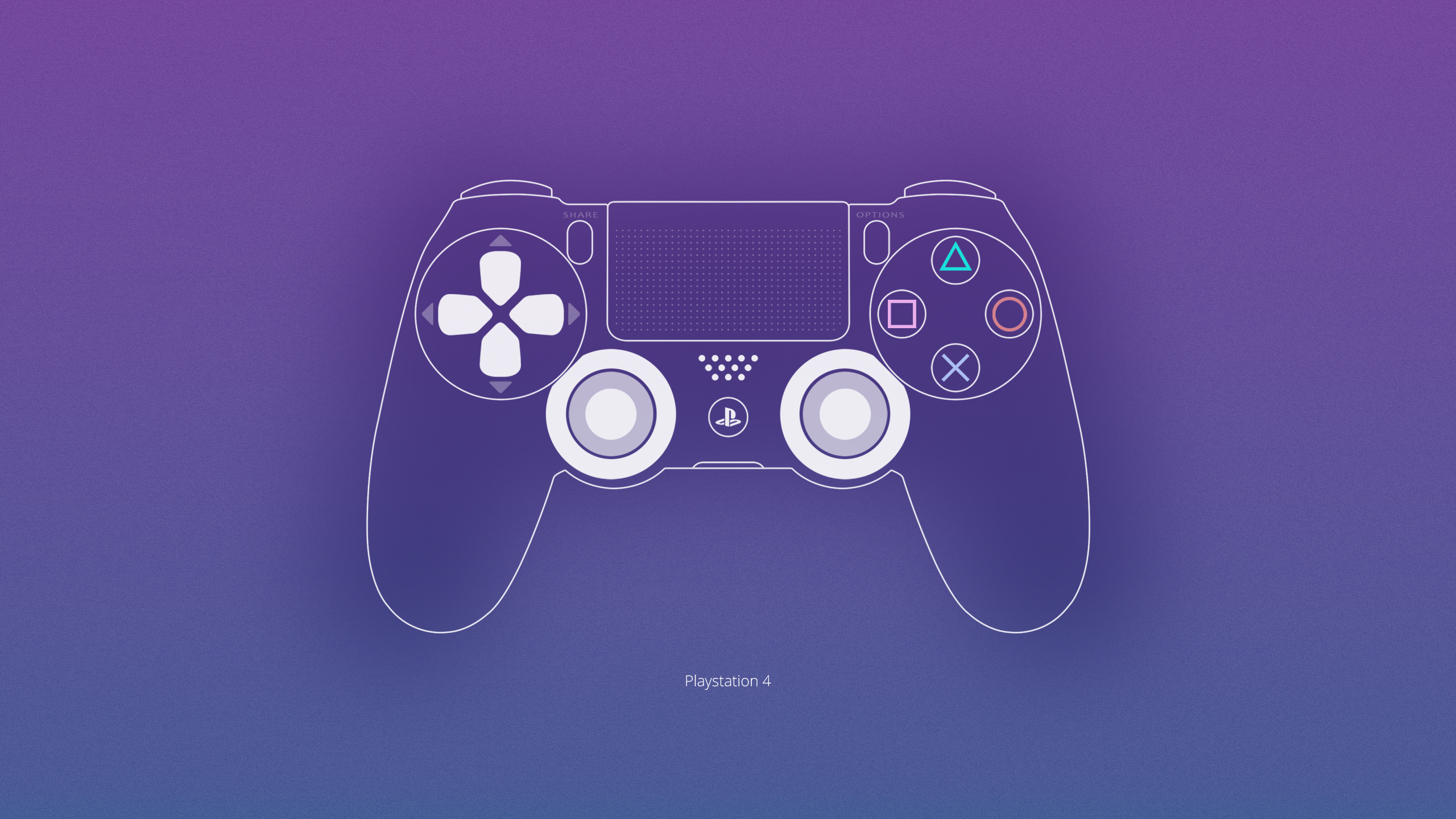 2560x1440 Pictures Gamepad Dualshock Console Ps4 Computers Painting 2560x1440