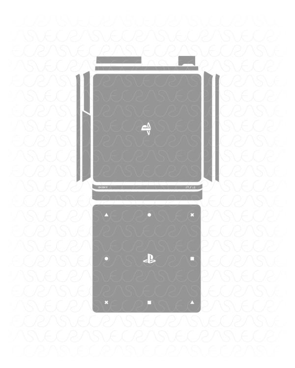 600x750 Sony Ps4 Slim Gaming Console Vinyl Skin Vector Cut File Template