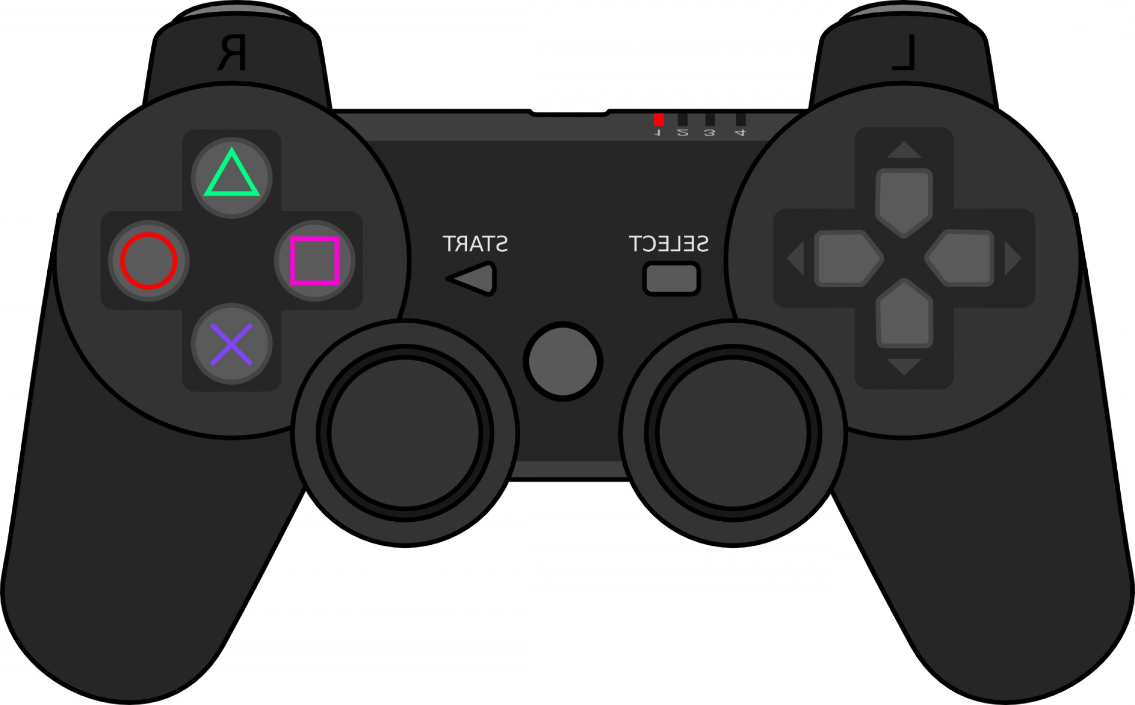 2304x1431 Black Gamepad Iconjoystick Outline Controller Vector Sohadacouri