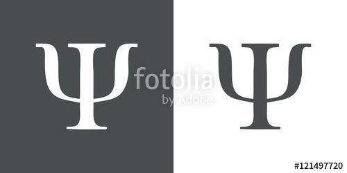 500x250 Icono Plano Simbolo Psi Gris Stock Image And Royalty Free Vector