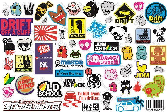 570x382 Sticker Bombing Vector Set Pt.2 Vector Sticker Bomb Vector Files