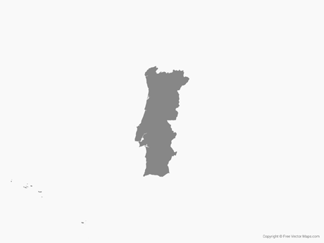 460x345 Vector Map Of Portugal