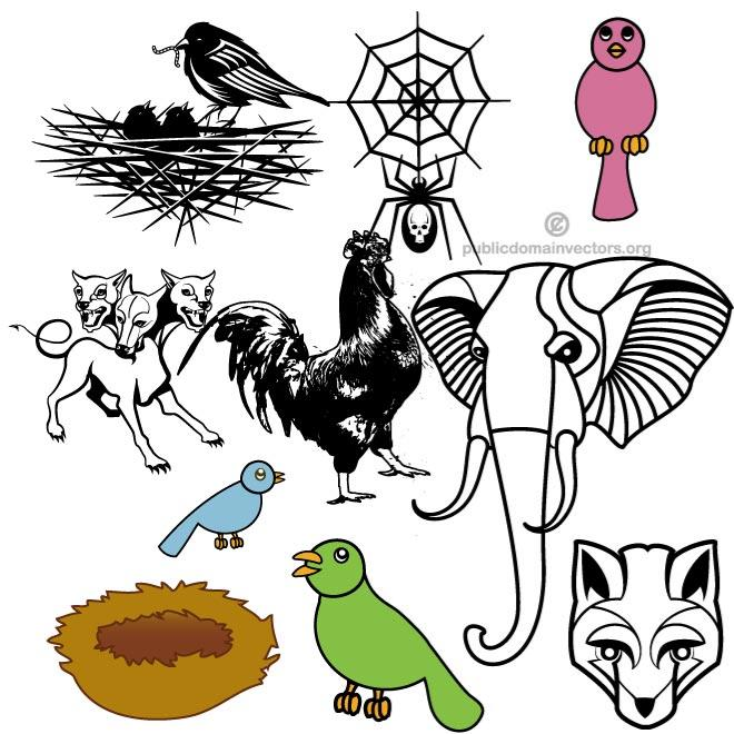 660x660 Animals Public Domain Vector Pack