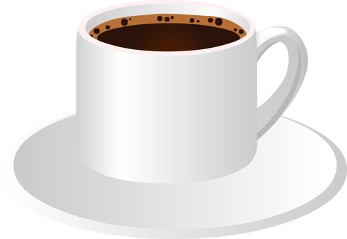 500x345 Coffee Cup Vector Clip Art Offfee Cup With A Saucer Public Domain