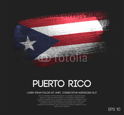 400x370 Puerto Rico Flag Made Of Glitter Sparkle Brush Paint Vector Buy