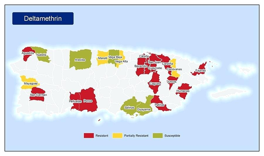 900x532 Map Of Insecticide Resistance To In Puerto Rico Vector Free