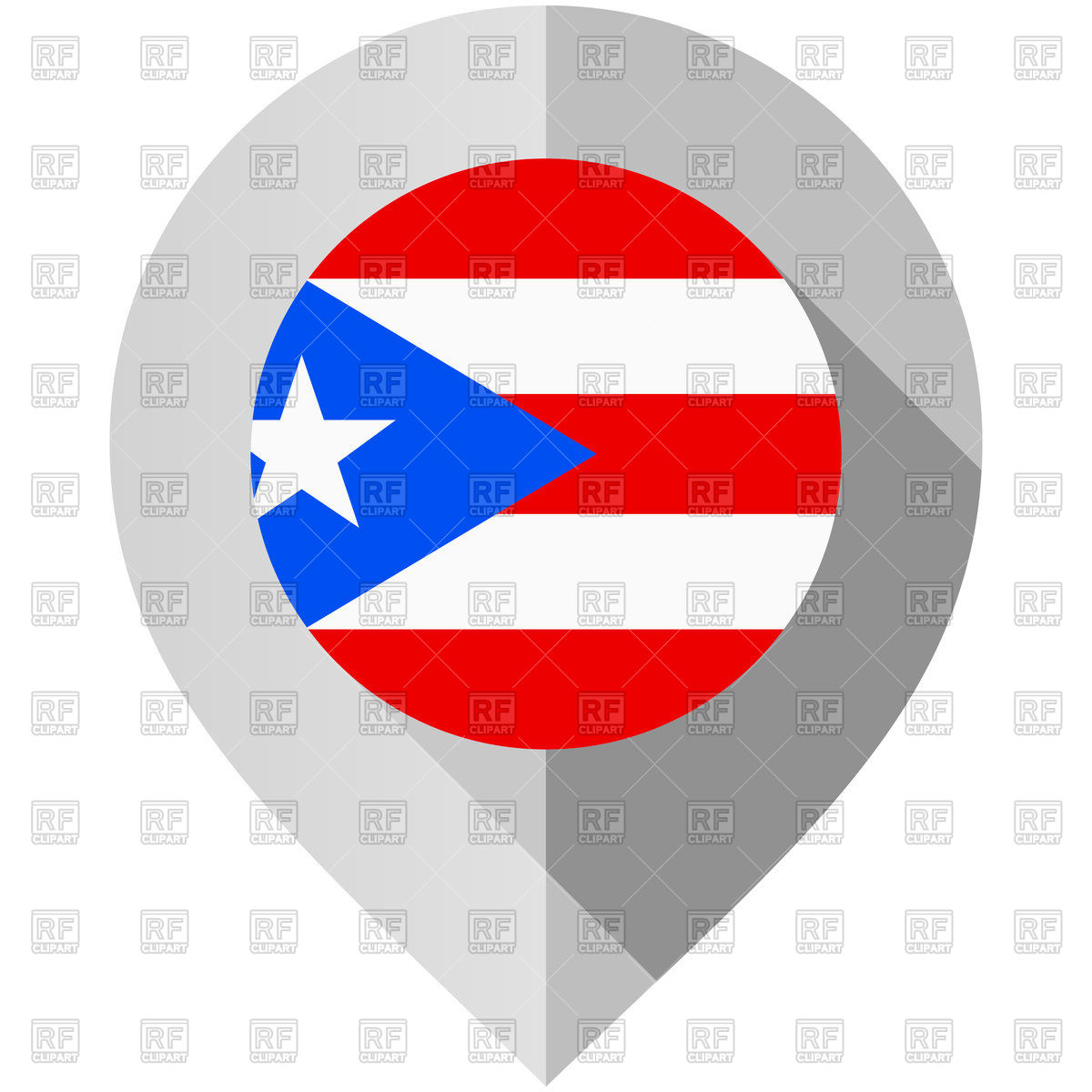 1200x1200 Map Marker With Flag Of Puerto Rico Vector Image Vector Artwork