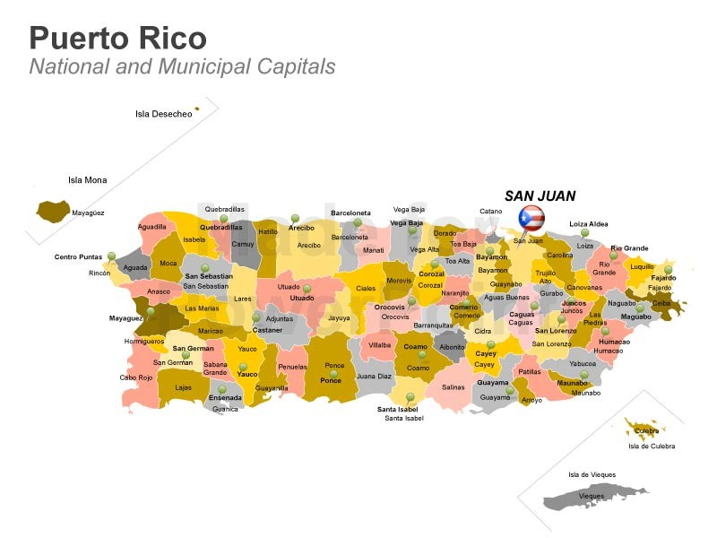 800x600 Puerto Rico Powerpoint Map