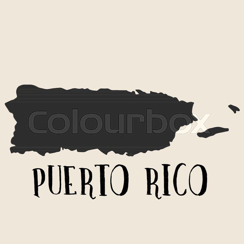 800x800 Doodle Freehand Map Sketch Of Puerto Rico ,vector Illustration