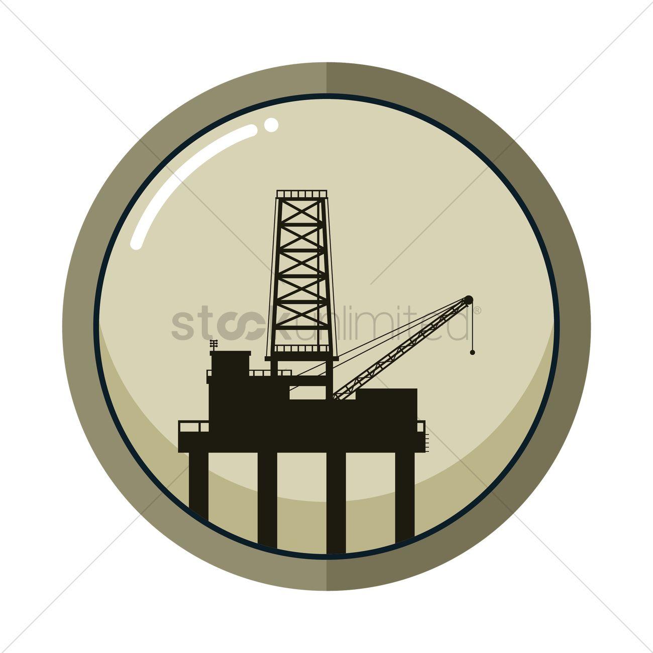 1300x1300 Oil Pump Jack Vector Image