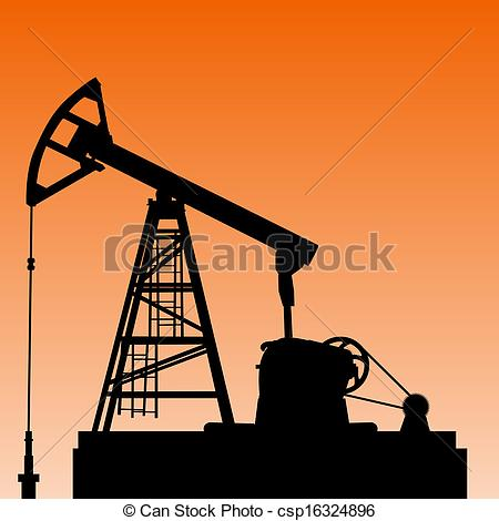 450x470 Oil Pump Jack. Oil Industry Equipment. Vector Illustration.