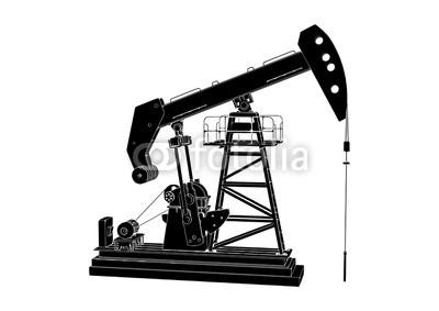 400x283 Silhouette Oil Pumpjack Vector Buy Photos Ap Images Detailview