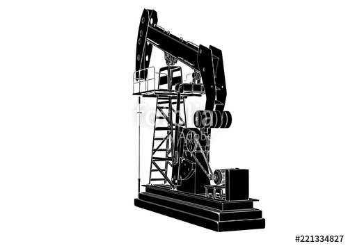 500x354 Silhouette Oil Pumpjack Vector Stock Image And Royalty Free