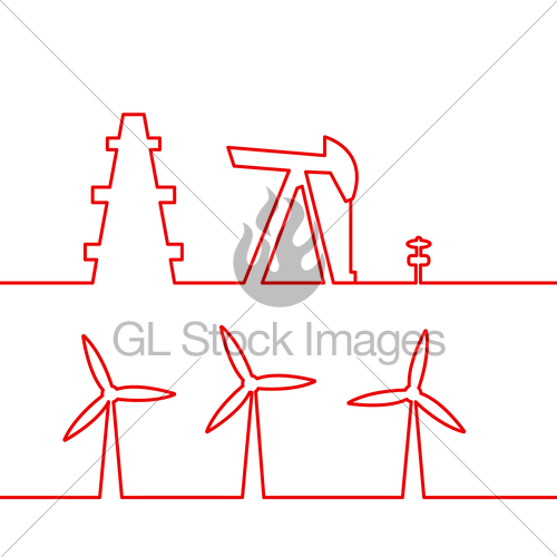 500x500 Oil Pump Jack. Gl Stock Images