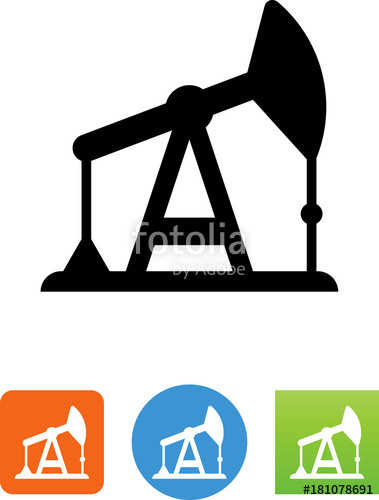 379x500 Oil Rig Pumpjack Icon Stock Image And Royalty Free Vector Files