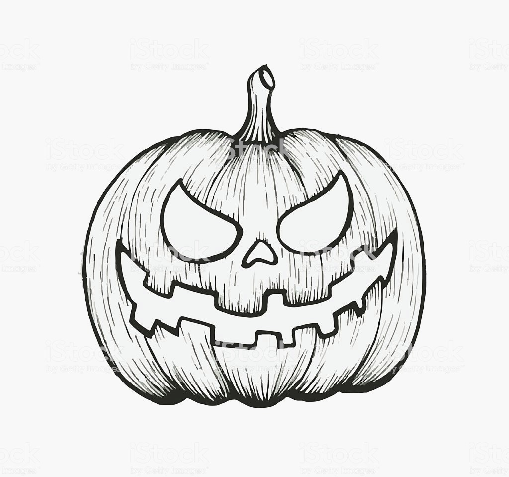 1024x959 Halloween Pumpkins To Draw Vector Hand Draw Halloween Pumpkin