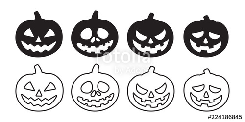 500x250 Pumpkin Vector Halloween Icon Logo Ghost Character Cartoon