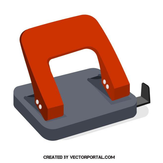 660x660 Hole Punch Vector Image