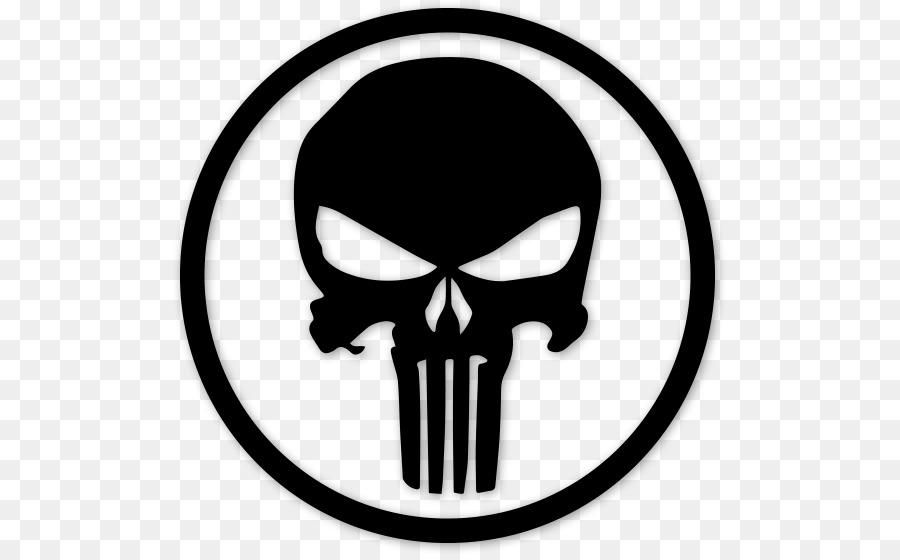 900x560 Punisher Decal Logo Bumper Sticker