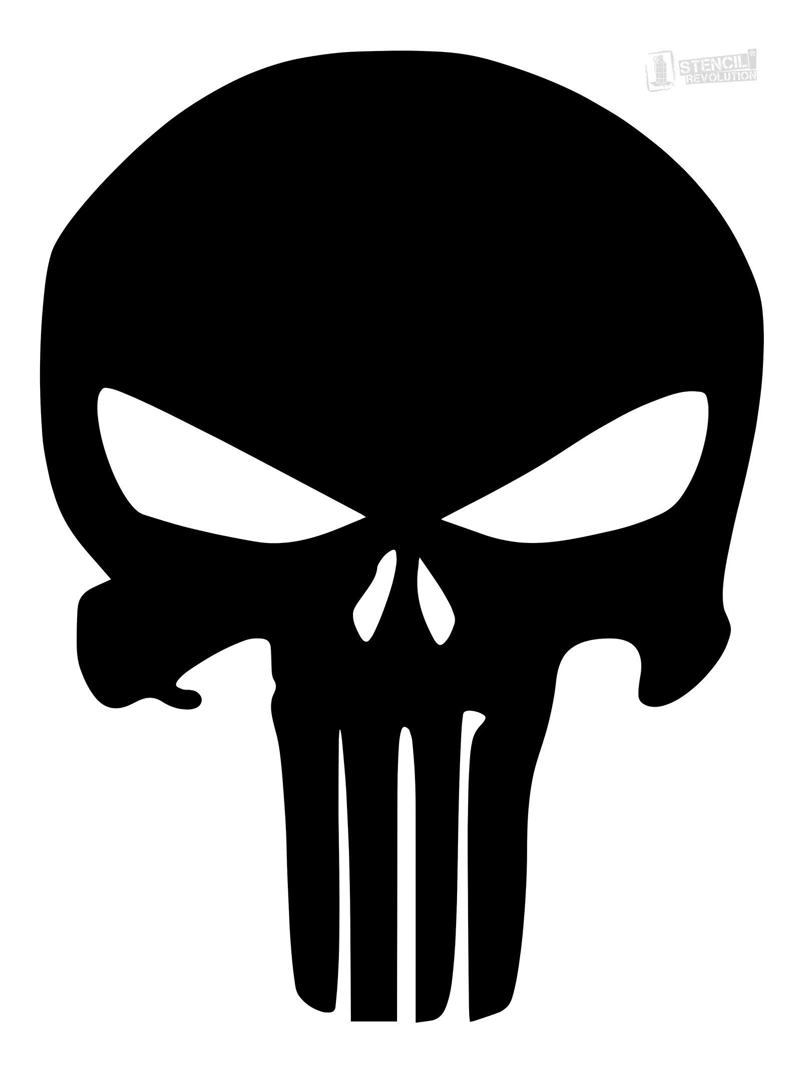 1600x2144 Punisher Skull Stencil Firearms Skull Stencil
