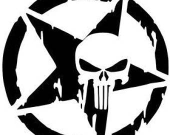 340x270 Punisher Stencil Etsy