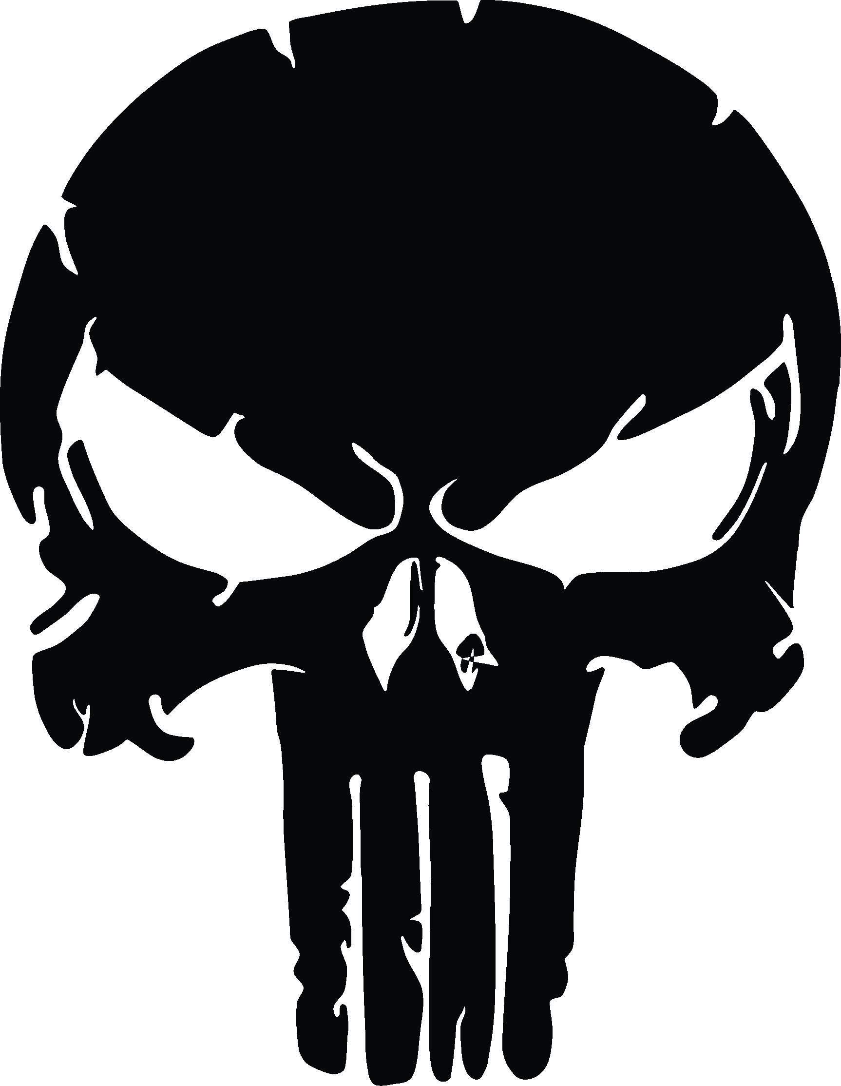 1726x2228 19 Punisher Vector Silhouette Huge Freebie Download For