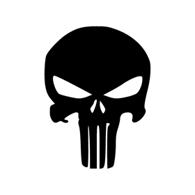 280x280 The Punisher Logo Vector Free Download