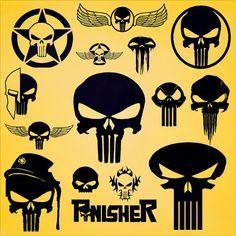 Punisher Skull Vector