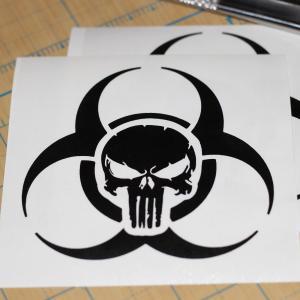 300x300 Punisher Skull Decal Bio Hazard Punisher Arenawp