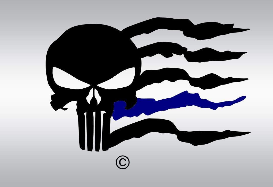 1067x732 Punisher Skull Flag Vector