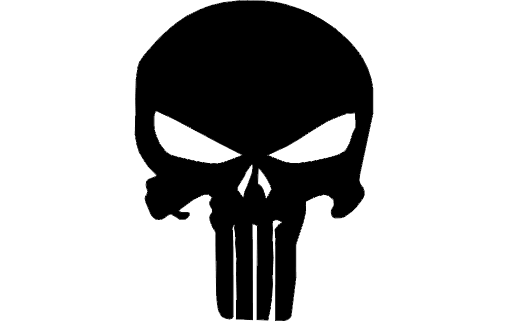 1002x633 Punisher Skull Dxf File Free Download