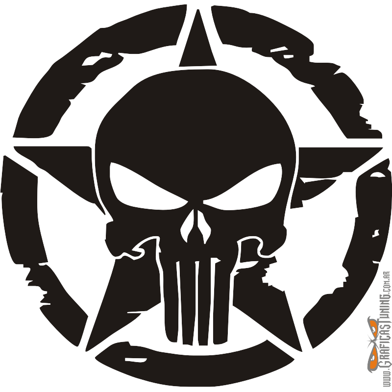 800x800 19 Punisher Vector Silhouette Huge Freebie! Download For
